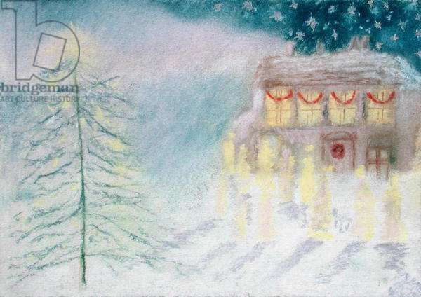 Christmas Eve, 1995 (pastel on paper)