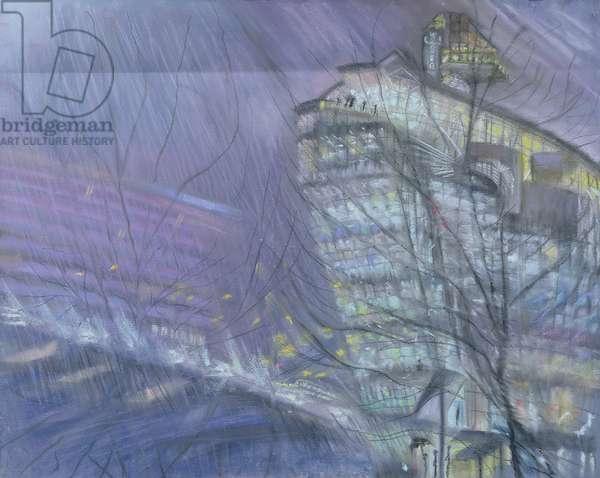 The Ark, Novotel Hotel, Hammersmith Flyover, 1999 (pastel on paper)