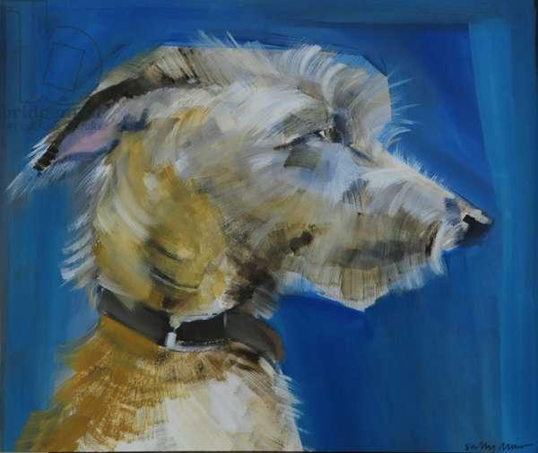 Lurcher, 2008 (oil on paper)