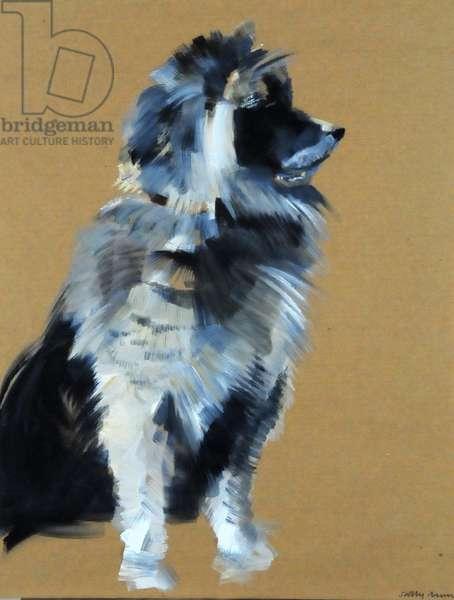Lion Dog, 2008 (oil on paper)