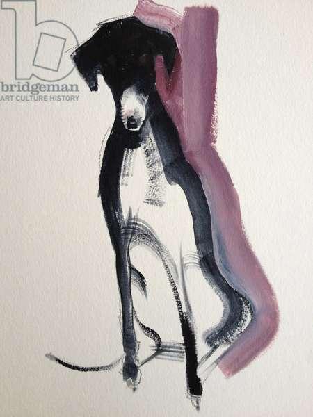 Black Lurcher 2013 (oil on paper)