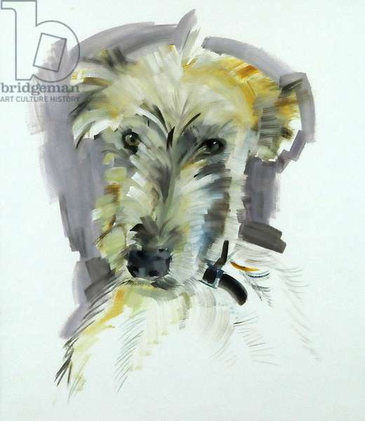 Violet Lurcher, 2008 (oil on paper)