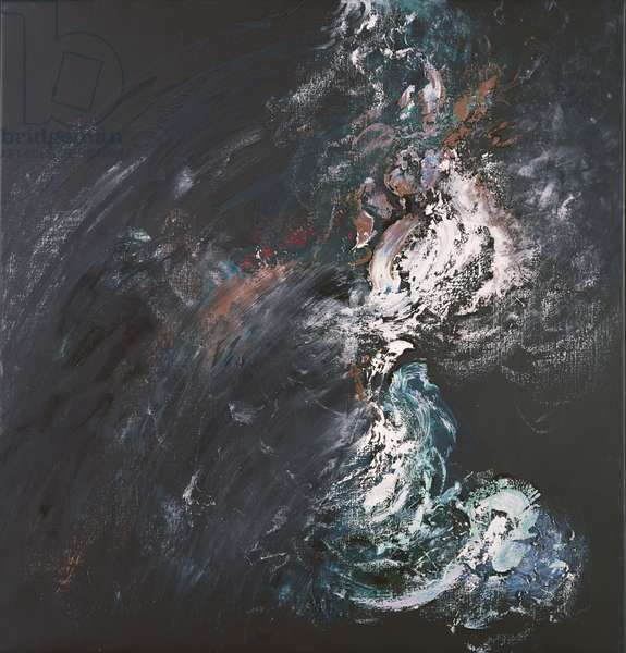 Night Wave Crest, 2008 (oil on canvas)