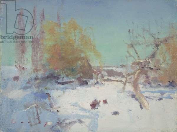 Winter Landscape (oil on board)
