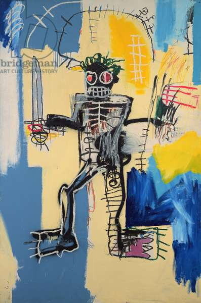 Warrior, 1982 (acrylic & oilstick on wood panel)