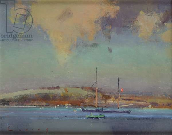 Coastal Scene (oil on board)