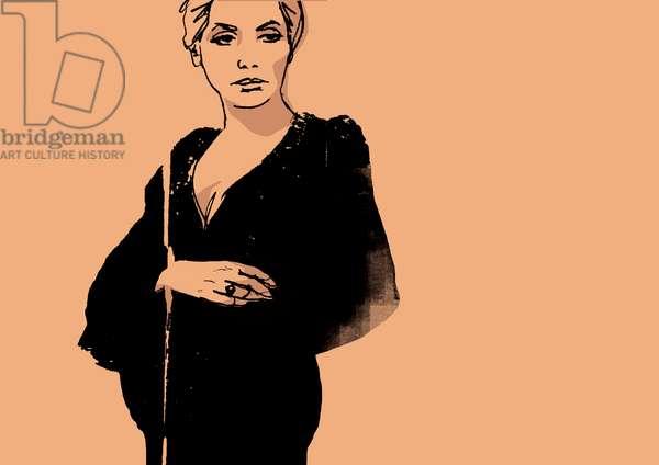 Deneuve, 2008 (mixed media)