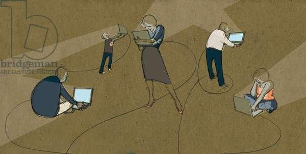 Virtual Friends, 2008 (mixed media)