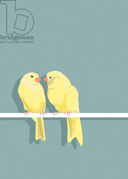 Canaries, 2012 (mixed media)