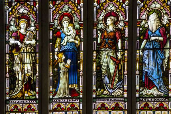 stained glass, Kylemore Abbey