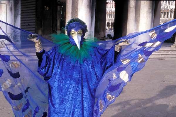 Man in blue chiffon