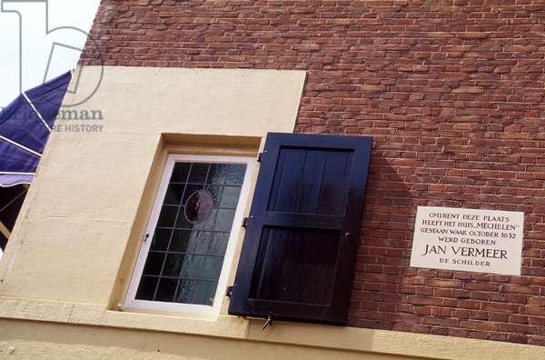 Plaque on Jan Vermeer's