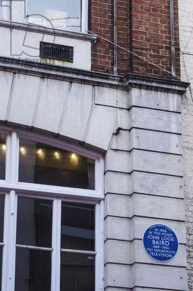 Blue plaque, John Logie Baird