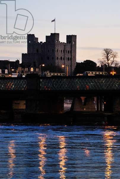 Rochester Castle, dusk