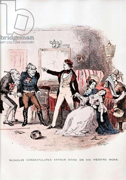 Nicholas Nickleby by C. Dickens -  illustration