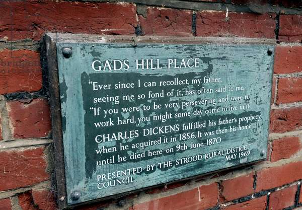 Dickens - plaque Gad's Hill