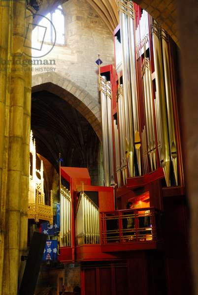 St. Giles Cathedral new organ, pipes and console