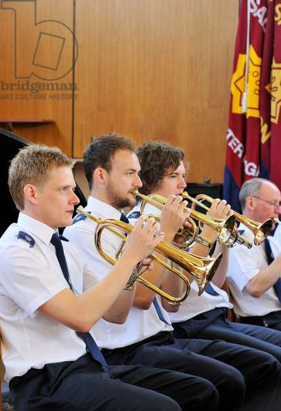 l horn players with Salvation Army Band