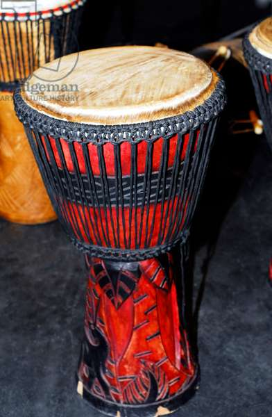 Red Djembe drum