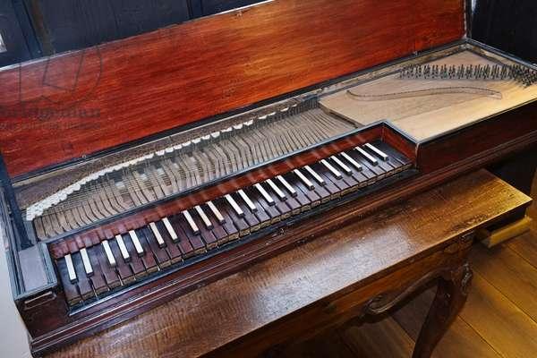 Baroque gebundenes Clavichord, fretted clavichord