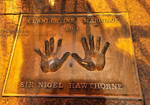 Sir Nigel Hawthorne plaque