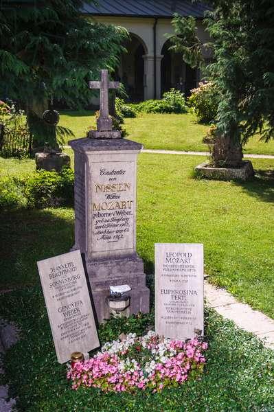 Leopold Mozart, Constanze Mozart grave