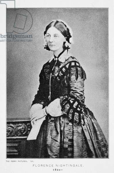 Portrait of Florence Nightingale (1820-1910) c.1860 (b/w photo)