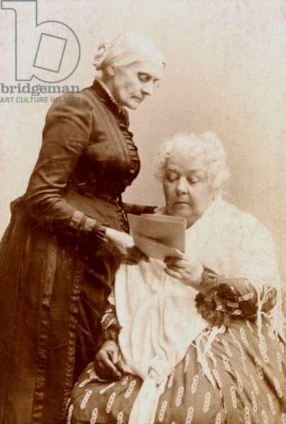 Elizabeth Cady Stanton (1815-1902) and Susan B. Anthony (1820-1906) c.1880 (b/w photo)
