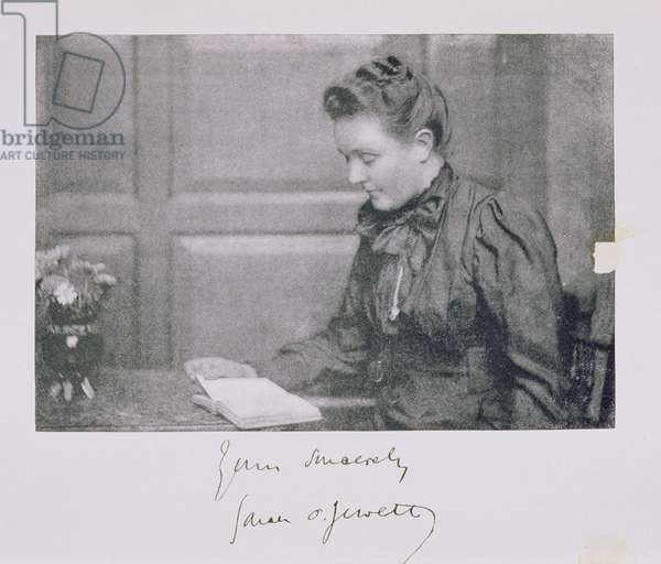 Portrait of Sarah Orne Jewett (1849-1909), c.1890 (litho)