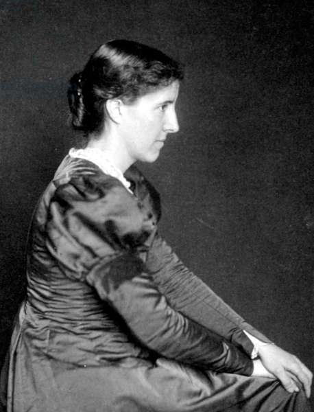 Portrait of Charlotte Perkins Gilman (1860-1935) (b/w photo)