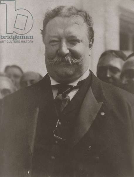 William H. Taft (1857-1930) at the Louisiana Purchase Exposition, 1904 (b/w photo)