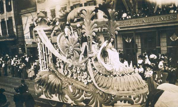 New Orleans, Mardi Gras, c.1905 (b/w photo)