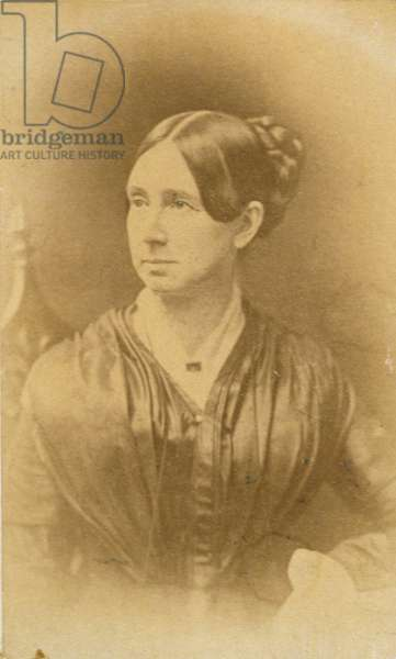Portrait of Dorothea Dix (1802-87), c.1840 (sepia photo)