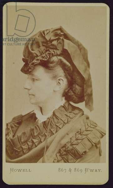 Portrait of Victoria Woodhull (1838-1927), c.1875 (b/w photo)