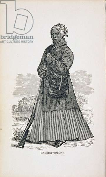 Harriet Tubman (c.1820-1913) from Sarah H. Bradford's 'Scenes in the life of Harriet Tubman', 1869 (engraving)