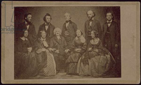 The Beecher Family, c.1860 (b/w photo)