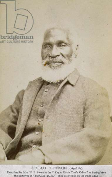 Portrait of Josiah Henson (1789-1883) 1876 (b/w photo)