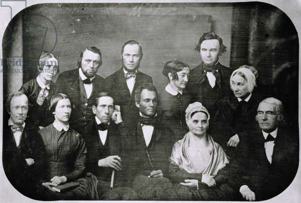 Anti-Slavery Society, including Lucretia Mott (b/w photo)