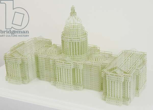Untitled (U.S. Capitol Building) 2008 (hand-cut ledger paper)