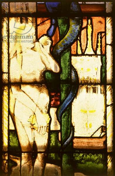 The Temptation of Eve (stained glass)