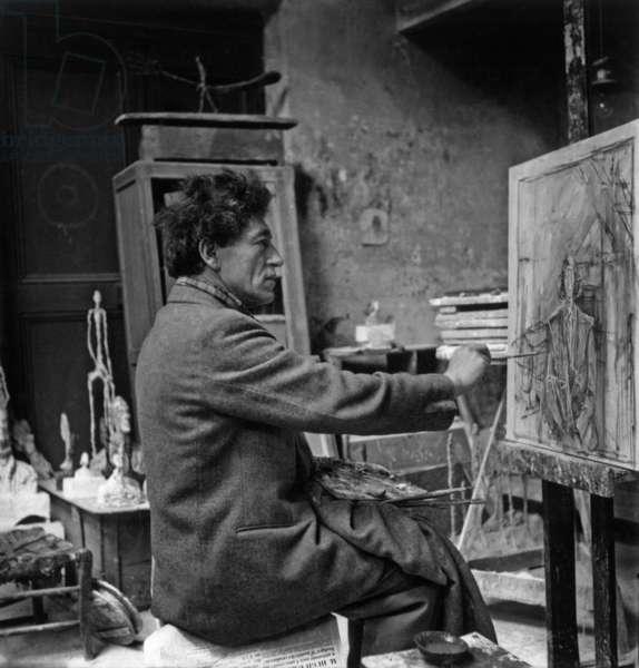 Alberto Giacometti (b/w photo)
