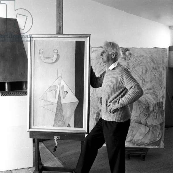 Max Ernst, Paris 1955 (b/w photo)