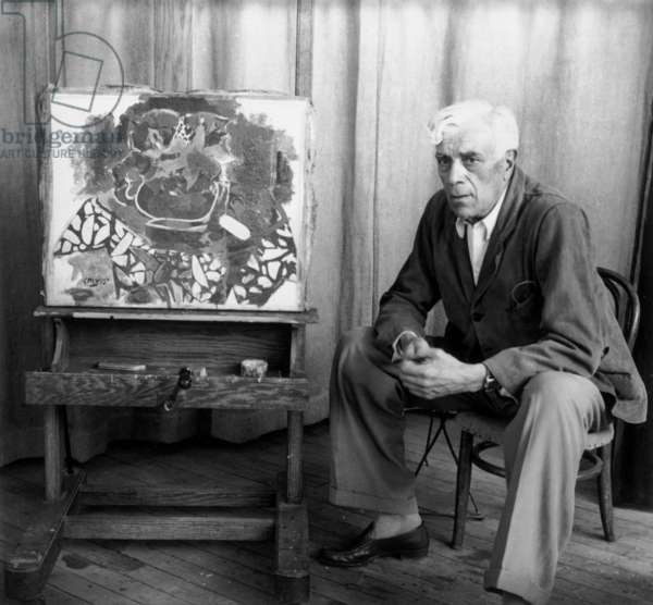 Georges Braque (b/w photo)