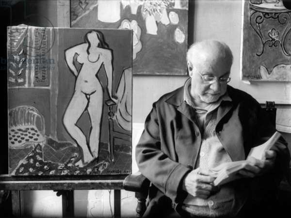 Henri Matisse (b/w photo)