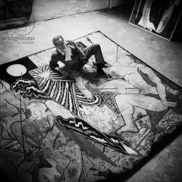 Jean Cocteau, c.1955 (b/w photo)