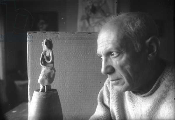 Picasso, Villa La Galloise, Vallauris, c.1947 (b/w photo)