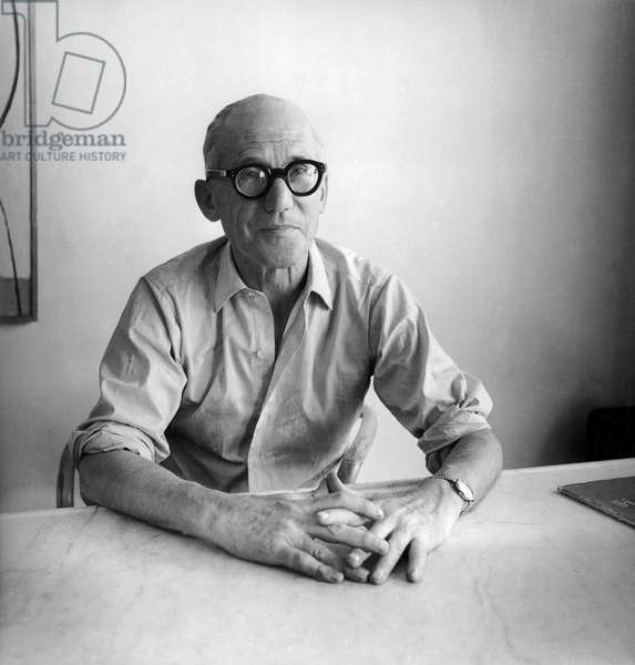 Le Corbusier, c.1953 (b/w photo)