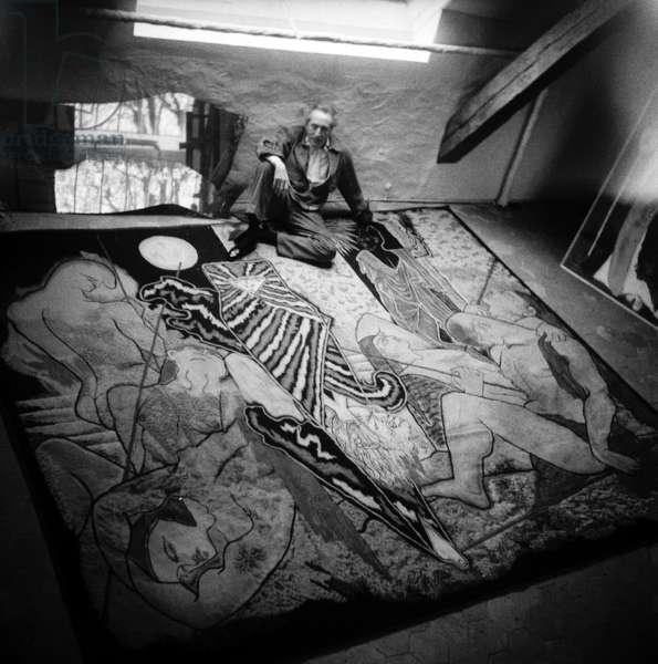 Jean Cocteau (b/w photo)