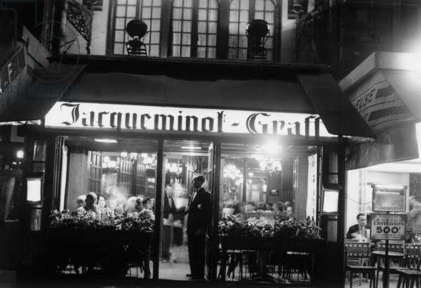 """Jacqueminot Graff"" (b/w photo)"