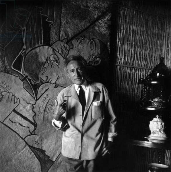 Jean Cocteau (b/w photo)